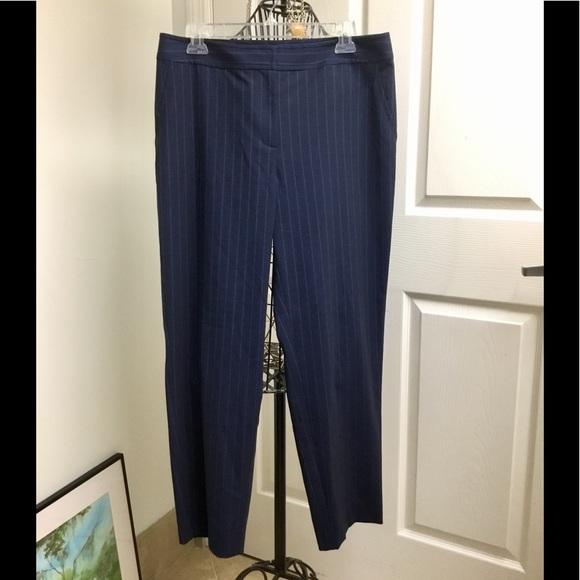 St. John Pants - St. John navy stripe pants straight legs size 10